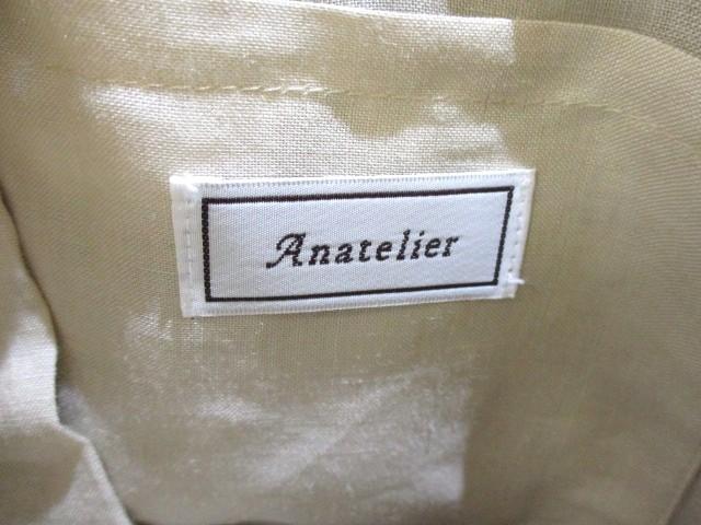 アナトリエ anatelier ハンドバッグ ナチュラル×パールホワイト かごバッグ/フェイクパール 化学繊維【中古】
