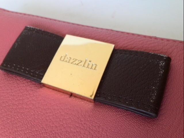 ダズリン DAZZLIN 長財布 ピンク×ダークブラウン リボン レザー【中古】