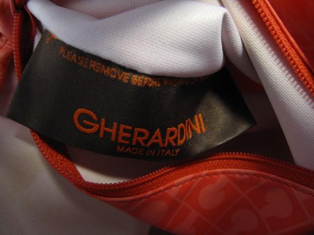 ゲラルディーニ GHERARDINI ショルダーバッグ レッド×ベージュ PVC(塩化ビニール)×レザー【中古】