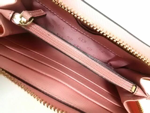 トリーバーチ TORY BURCH 財布 レディース ピンク ラウンドファスナー レザー【中古】
