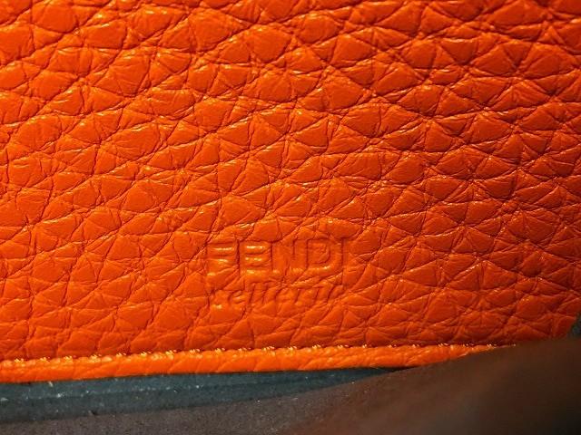 フェンディ FENDI 長財布 レディース セレリア 8M0299 オレンジ ラウンドファスナー レザー【中古】