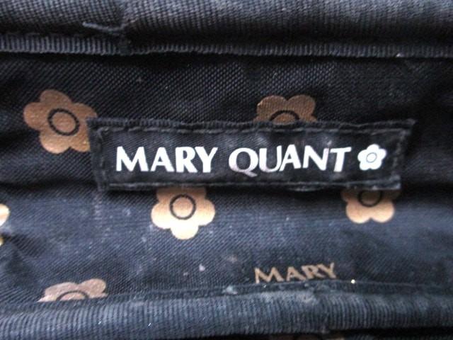 マリークワント MARY QUANT バニティバッグ レディース 黒 フラワー ナイロン【中古】