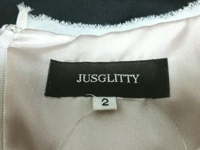 ジャスグリッティー JUSGLITTY ワンピース サイズ2 M レディース 美品 ベージュ×黒 レース【中古】
