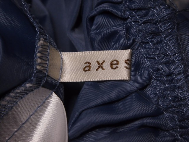 アクシーズファム axes femme スカート レディース グレー×アイボリー 花柄/刺繍/レース【中古】