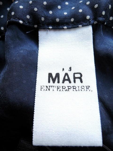 メーアエンタープライズ mar enterprise ワンピース レディース ネイビー×白 ドット柄【中古】