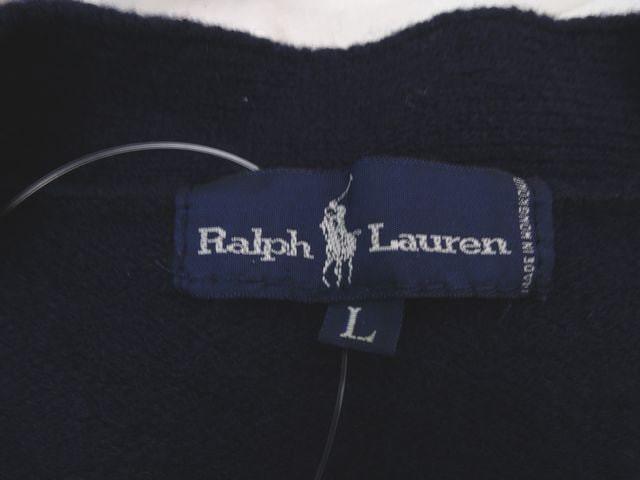 ラルフローレン RalphLauren カーディガン サイズL レディース ネイビー×マルチ【中古】