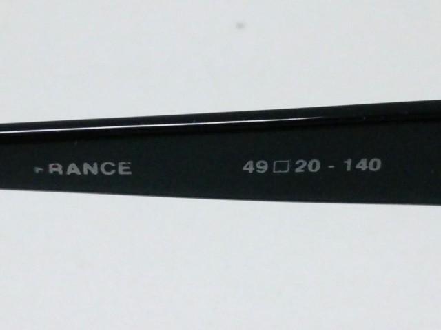アニエスベー agnes b サングラス 140 レディース AB2739 黒×カーキ プラスチック【中古】