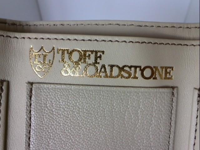 トフアンドロードストーン TOFF&LOADSTONE 3つ折り財布 レディース ライトグレー ラウンドファスナー レザー【中古】