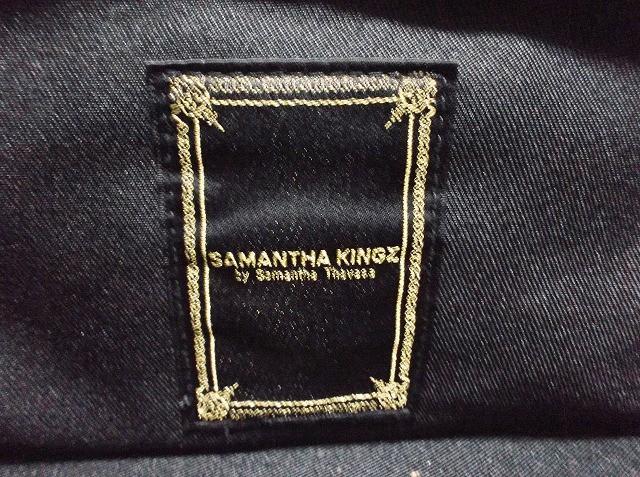 サマンサキングズ Samantha kingz ショルダーバッグ レディース ダークブラウン×黒 合皮【中古】