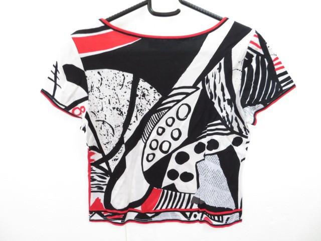 レオナール LEONARD 半袖Tシャツ サイズL レディース 白×黒×レッド【中古】