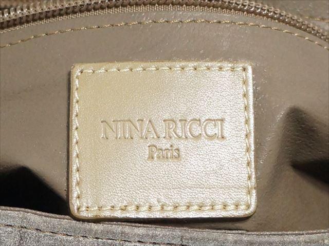 ニナリッチ NINARICCI クラッチバッグ レディース 白×ダークブラウン スエード×レザー【中古】