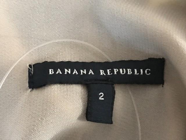 バナナリパブリック BANANA REPUBLIC ワンピース レディース グレー×ベージュ×マルチ シルク【中古】