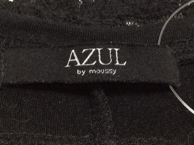 アズールバイマウジー AZUL by moussy 長袖カットソー サイズS レディース 黒 レース【中古】