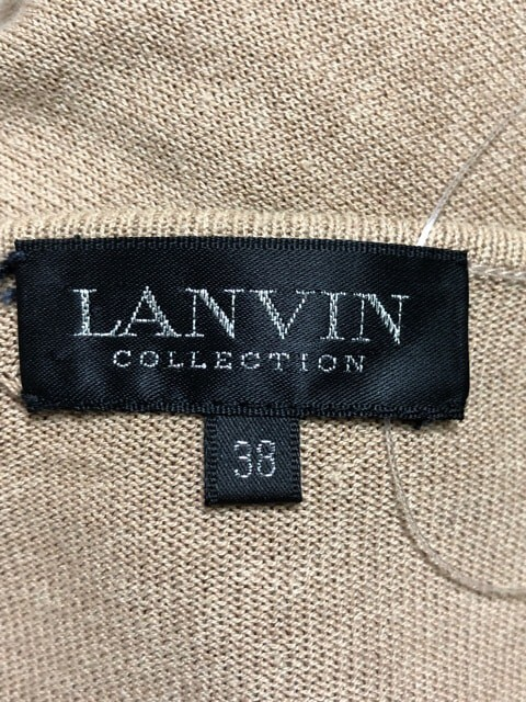 ランバンコレクション LANVIN COLLECTION アンサンブル サイズ38 M レディース ベージュ ニット/スタッズ【中古】