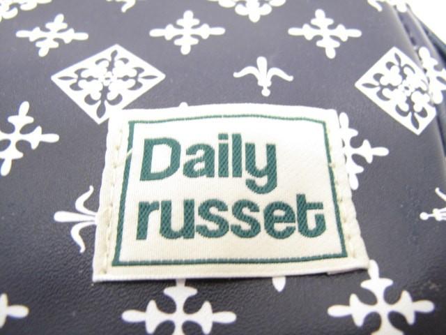 デイリーラシット Daily russet ハンドバッグ レディース 美品 ダークネイビー×白 2WAY 合皮【中古】