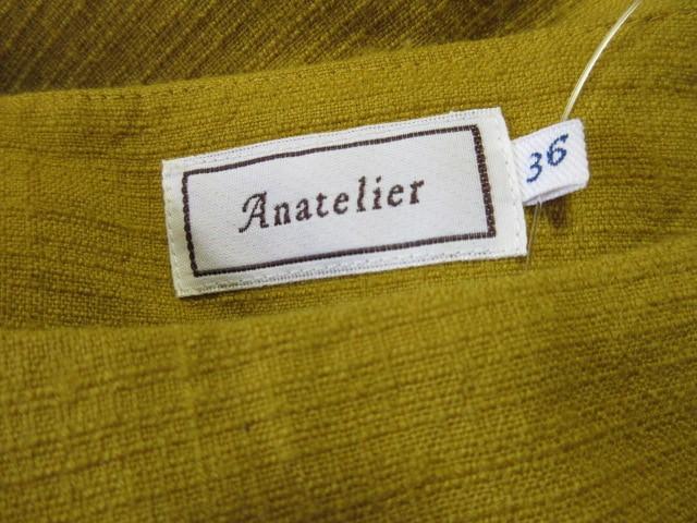 アナトリエ anatelier ワンピース サイズ36 S レディース マスタード【中古】