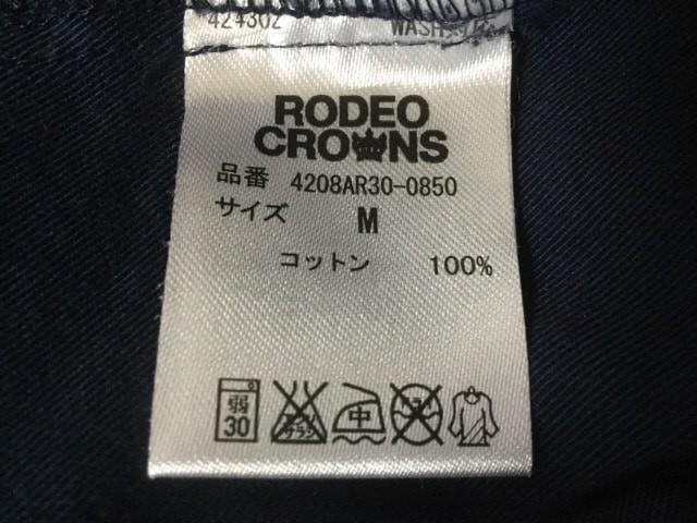 ロデオクラウンズ RODEOCROWNS ワンピース サイズM レディース ネイビー シャツワンピ【中古】