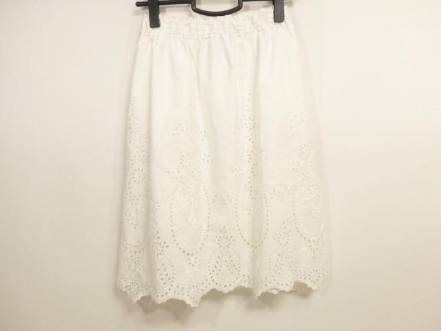 カオン kaon スカート サイズS レディース 白 フラワー/刺繍【中古】