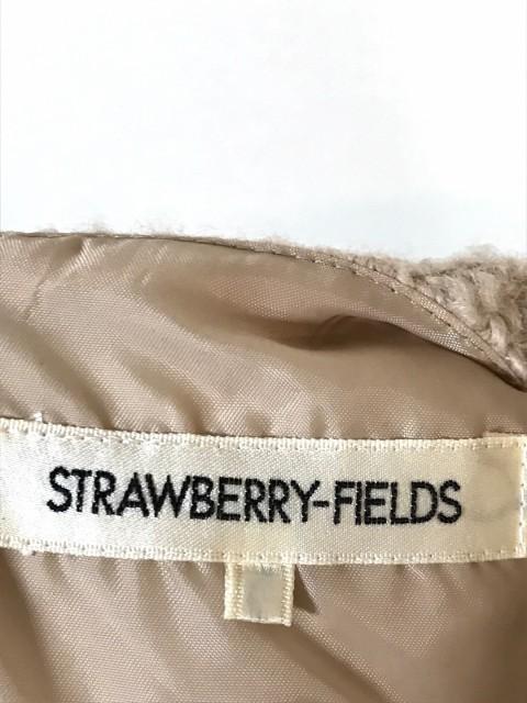 ストロベリーフィールズ STRAWBERRY-FIELDS ワンピース レディース 美品 ベージュ ニット/ラメ【中古】