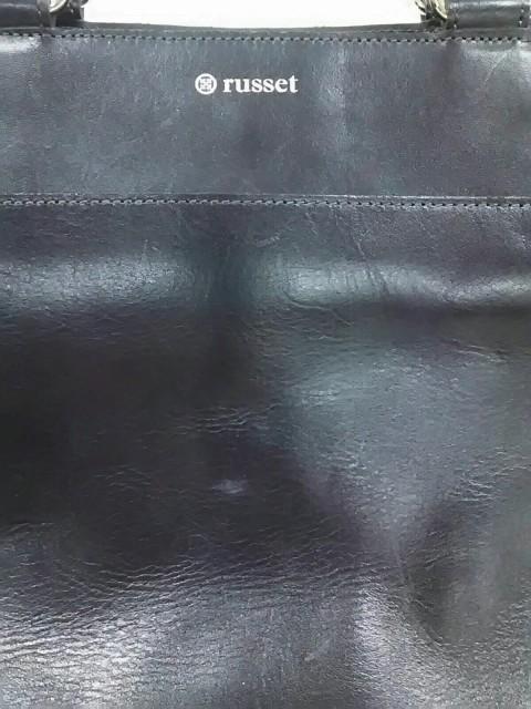 ラシット russet ハンドバッグ レディース 黒 レザー【中古】
