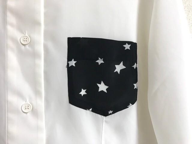 ソニアリキエル SONIARYKIEL 長袖シャツブラウス サイズ40 M レディース アイボリー×黒 星柄【中古】