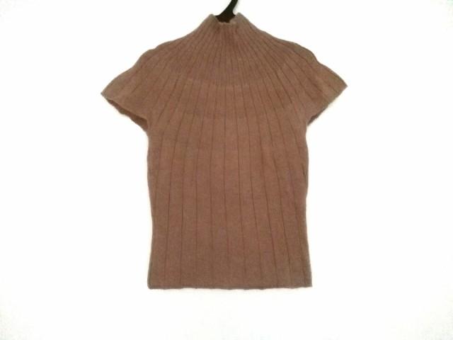 アナイ ANAYI 半袖セーター サイズ38 M レディース 美品 ライトブラウン ハイネック【中古】