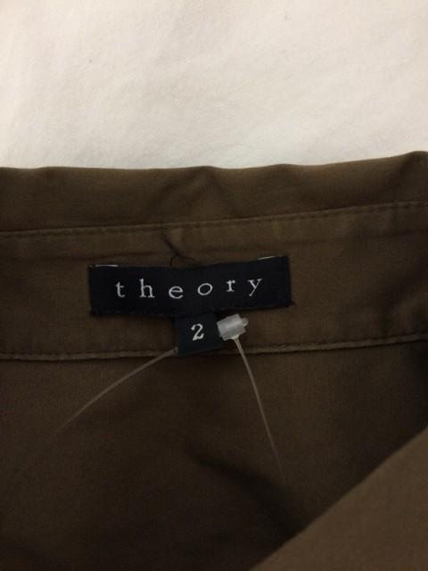セオリー theory 長袖シャツブラウス サイズ2 S レディース ダークブラウン【中古】