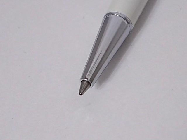 スワロフスキー ボールペン レディース アイボリー×シルバー×クリア インクあり/ハート 金属素材×スワロフスキークリスタル【中古】