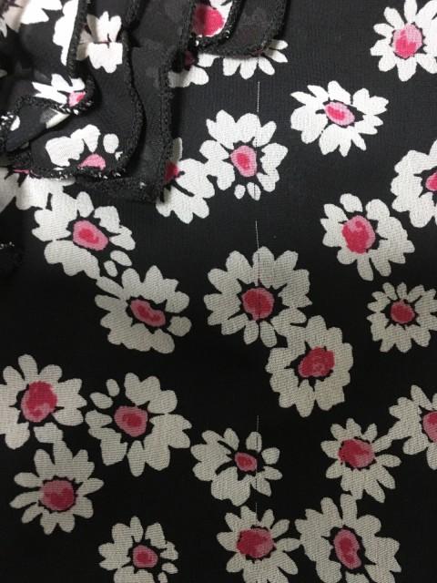 ギャラリービスコンティ GALLERYVISCONTI ワンピース レディース 黒×白×ピンク 花柄【中古】