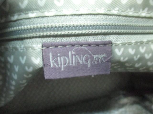 キプリング Kipling ハンドバッグ レディース パープル ナイロン【中古】