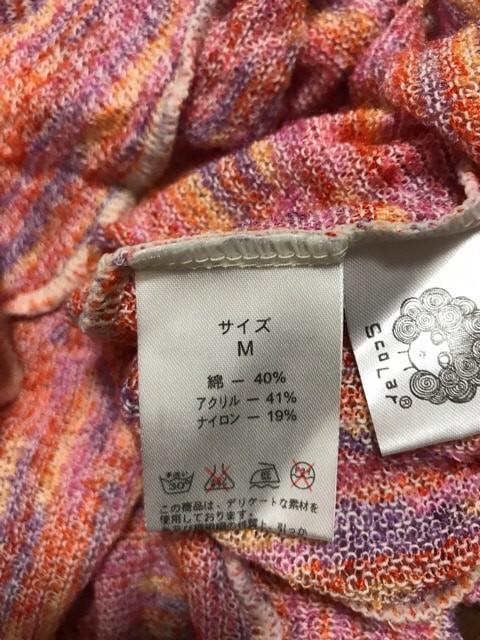 スカラー ScoLar ワンピース サイズM レディース 美品 ピンク×マルチ ニット/シースルー【中古】