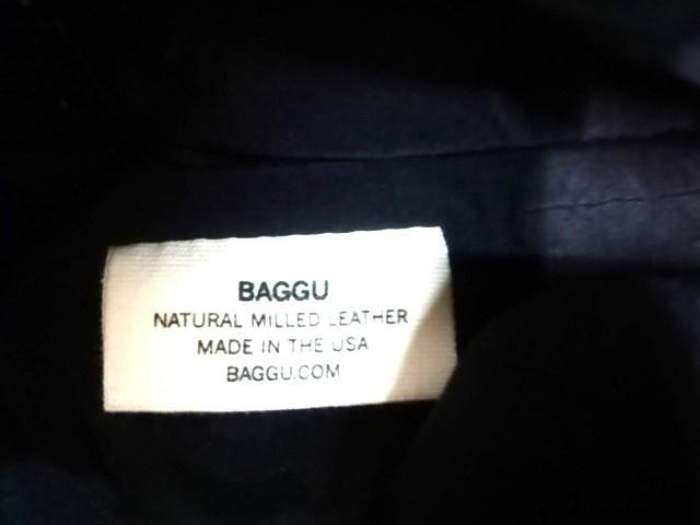 バグゥ BAGGU トートバッグ レディース 黒 レザー【中古】