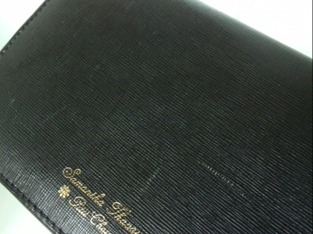 サマンサタバサプチチョイス Samantha Thavasa Petit Choice Wホック財布 レディース 黒 ラインストーン 合皮【中古】