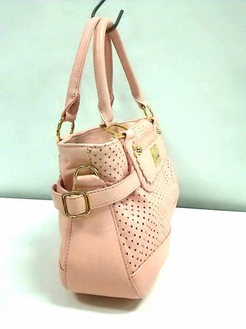 リズリサ LIZLISA トートバッグ レディース ピンク ハート/パンチング 合皮【中古】