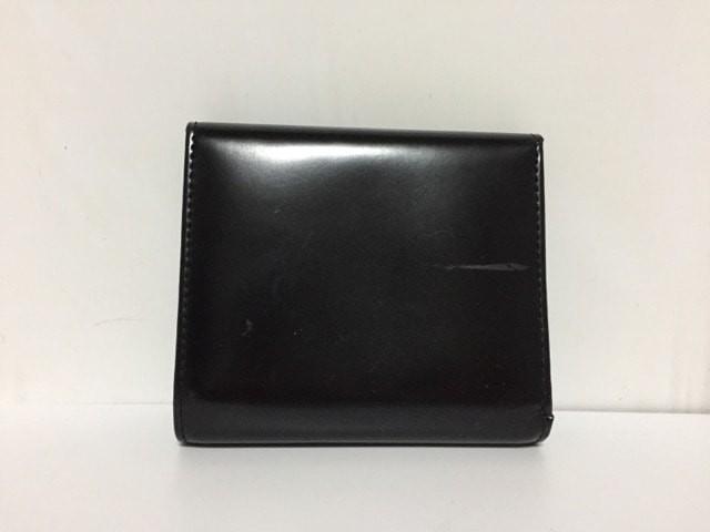 クレイサス CLATHAS 3つ折り財布 レディース 黒×白 フラワー 合皮【中古】