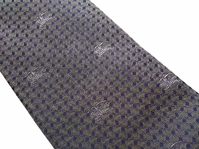 バーバリーロンドン Burberry LONDON ネクタイ メンズ カーキ×黒 刺繍【中古】