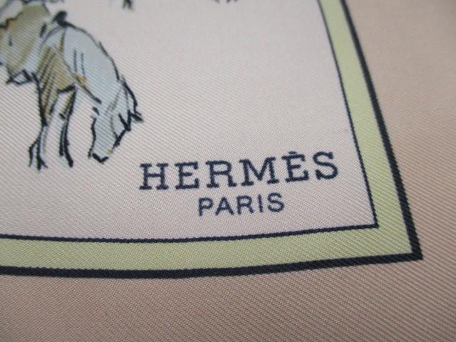 エルメス HERMES スカーフ レディース 美品 プチカレ ベージュ×マルチ VOYAGE AU NIGER【中古】