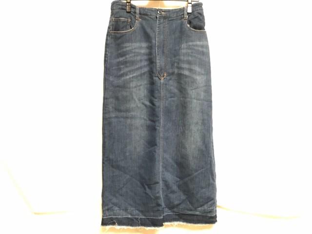 ネネット Ne-net ロングスカート サイズ2 M レディース ネイビー リバーシブル/デニム/ダメージ加工【中古】