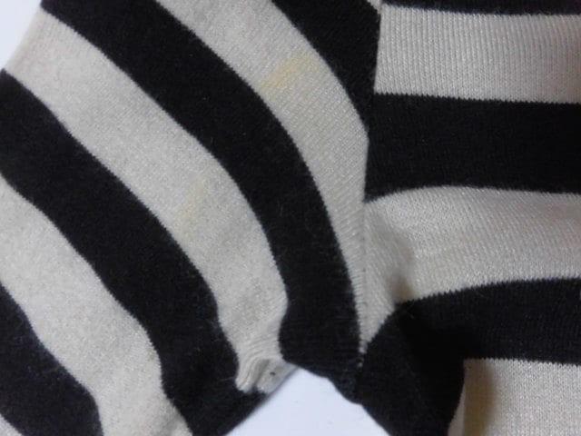 ストロベリーフィールズ STRAWBERRY-FIELDS ワンピース レディース 黒×アイボリー ニット/ボーダー【中古】