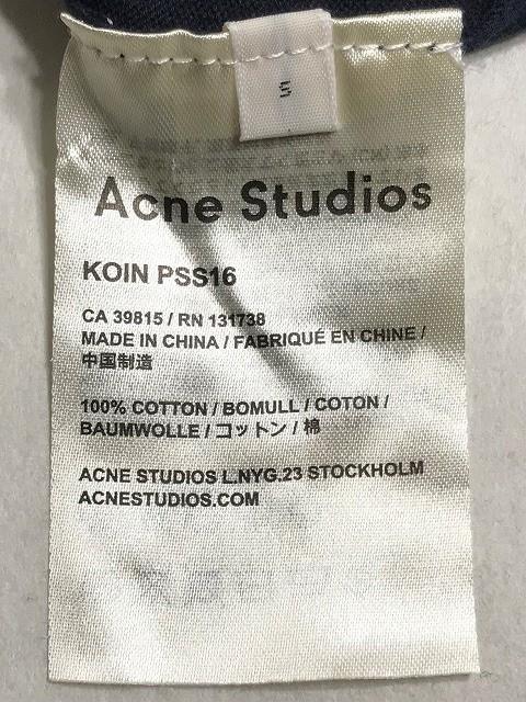 アクネ ストゥディオズ ACNE STUDIOS チュニック サイズS レディース ネイビー【中古】