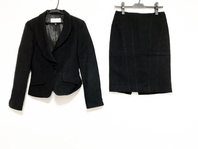 ピンキー&ダイアン Pinky&Dianne スカートスーツ サイズ38 M レディース 美品 黒 肩パッド/ラメ【中古】