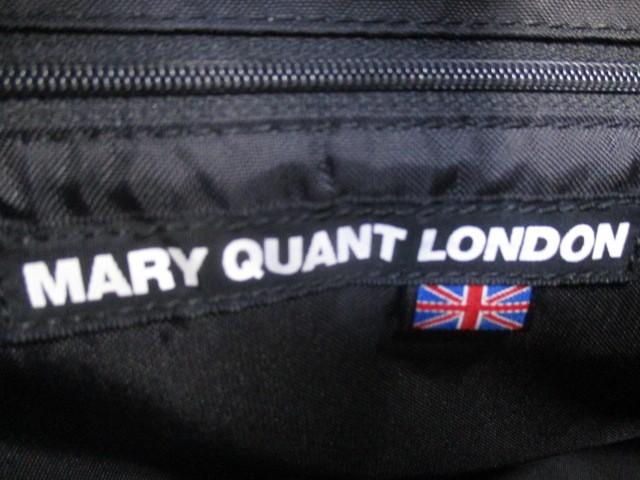 マリークワント MARY QUANT トートバッグ レディース 黒 フラワー キャンバス×エナメル(レザー)【中古】