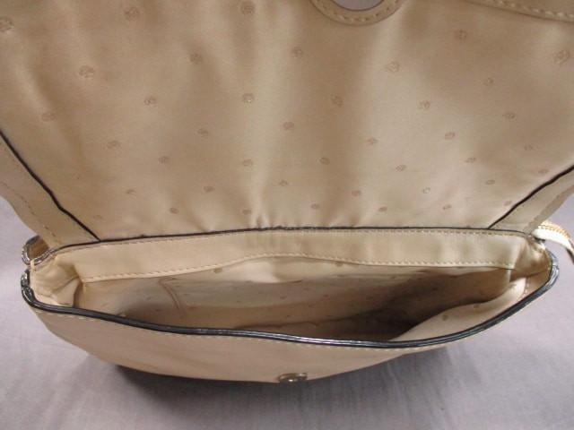 ケイトスペード ショルダーバッグ レディース ライトベージュ×ゴールド リボン/チェーンショルダー レザー×金属素材【中古】