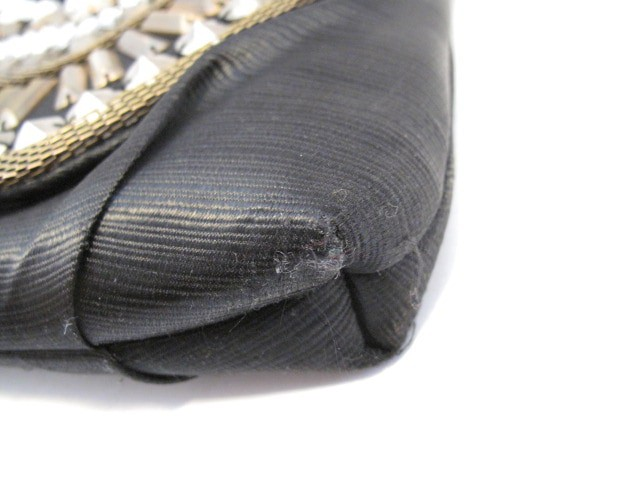 カシェリエ Cachellie ショルダーバッグ レディース 黒×ゴールド×クリア ビジュー/2WAY 化学繊維×金属素材×プラスチック【中古】