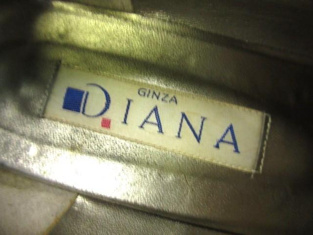 ダイアナ DIANA パンプス 24 1/2 レディース 黒 リボン ヌバック【中古】