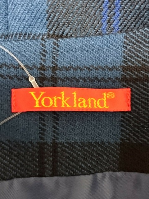 ヨークランド YORKLAND ワンピース サイズ9 M レディース 美品 ブルー×黒 チェック柄【中古】