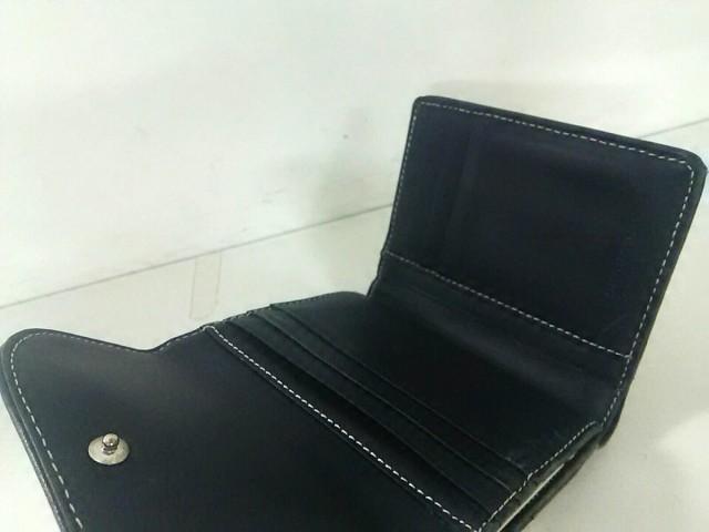 バーバリーブルーレーベル 3つ折り財布 レディース アイボリー×ダークネイビー×ボルドー チェック柄/がま口【中古】