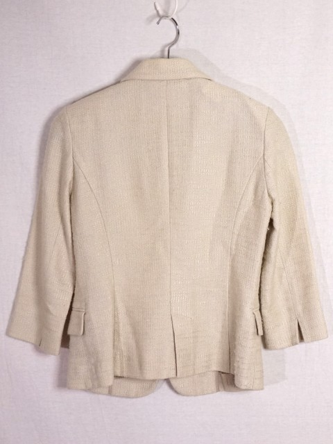 ナチュラルビューティー ベーシック NATURAL BEAUTY BASIC スカートスーツ サイズS レディース ベージュ ツイード/ラメ/リボン【中古】
