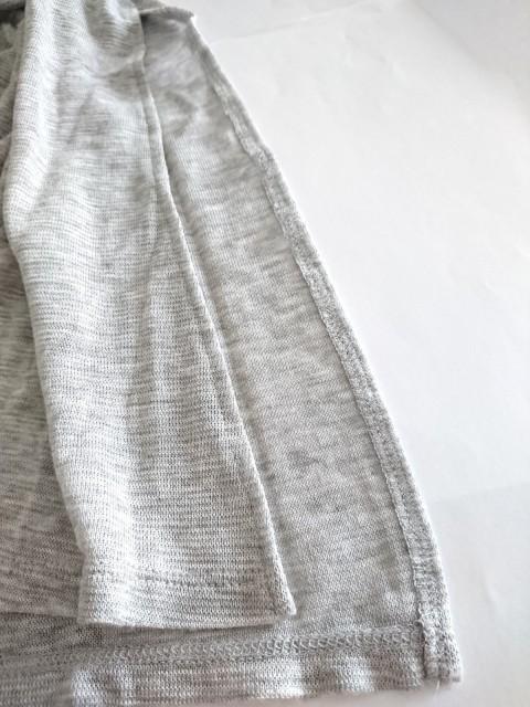ニジュウサンク 23区 ベスト サイズ38 M レディース 美品 ライトグレー ロング丈【中古】