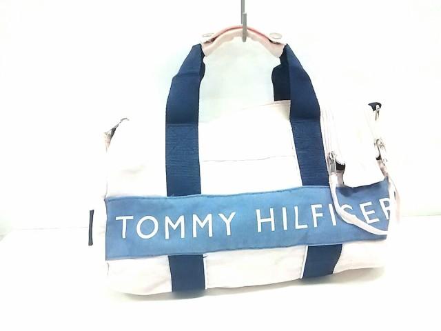 トミーヒルフィガー TOMMY HILFIGER ハンドバッグ レディース ネイビー キャンバス【中古】